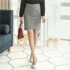 Tulip-Hem Pencil Skirt 1596