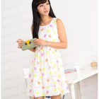 Lip Print Sleeveless Dress 1596