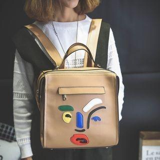 Applique Square Backpack