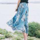 Floral A-Line Midi Dress 1596