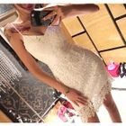 Strappy Sheath Lace Dress 1596