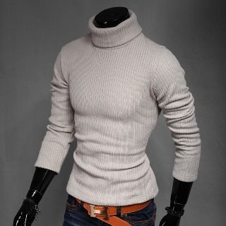 Turtleneck Ribbed Sweater 1057535634