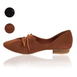 Buy Woorisin Faux-Suede Lace-Up Loafers 1021548971