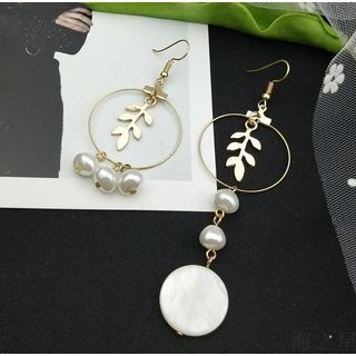 Faux Pearl Non-Matching Drop Earring