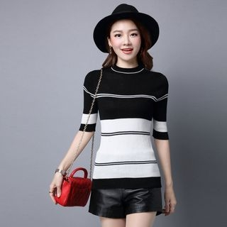 Short-Sleeve Ribbed Knit Top 1061368820