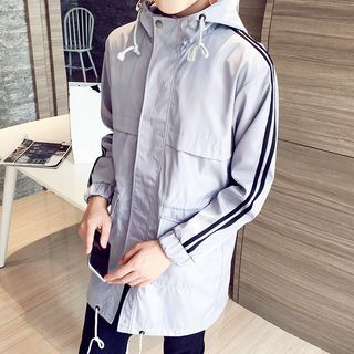 Striped Hooded Windbreaker 1055036480