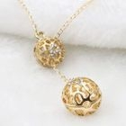 Cutout Ball Necklace 1596