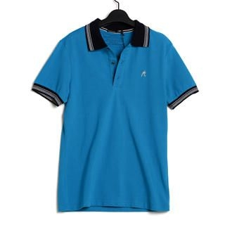 Buy SLOWTOWN Contrast-Trim Short-Sleeve Polo Shirt 1022710821