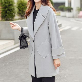 Notched Lapel Coat 1062067833