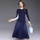 Set: Panel Sweater + Pleated Skirt 1596