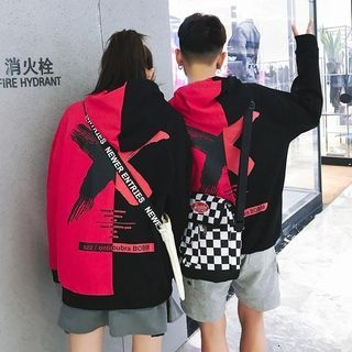 Couple Matching Two-Tone hoodie 1064567204