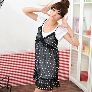Picture of 59 Seconds Polka Dot Frilled Sundress 1022435348 (59 Seconds Apparel, Womens Innerwear, Hong Kong Apparel, Slips & Camis)