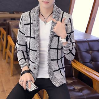Image of Plaid Cardigan