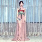 Floral Embroidered Sleeveless Maxi Dress 1596