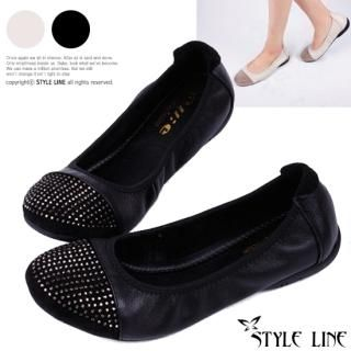 Buy STYLE LINE Genuine Leather Studded Flats 1023017307
