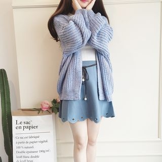 Melange Ribbed Cardigan 1055206549