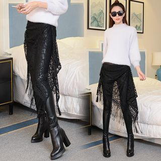 faux-leather-legging-inset-lace-skirt