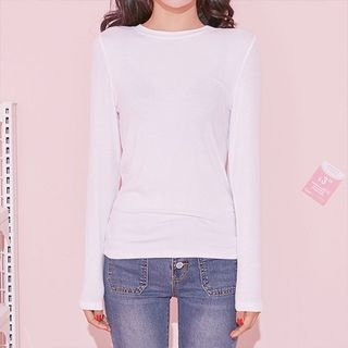 Round-Neck Ribbed T-Shirt 1062605167