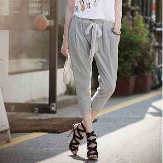 Picture of AKA Tie-Waist Capri Pants 1022856467 (Womens Capri Pants, AKA Pants, South Korea Pants)