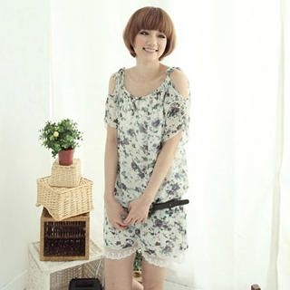 Buy CatWorld Floral Chiffon Playsuit 1023041992