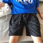 Plain Loose-Fit Shorts 1596