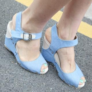 Picture of Drama Wedge Sandals 1022900095 (Sandals, Drama Shoes, Korea Shoes, Womens Shoes, Womens Sandals)