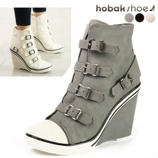 Picture of HOBAK girls Belted Wedge Pumps 1023046463 (Pump Shoes, HOBAK girls Shoes, Korea Shoes, Womens Shoes, Womens Pump Shoes)