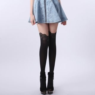 Rose Two-Tone Tights 1058371600