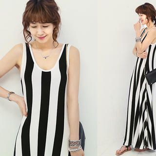 Pinstripe Tank Dress