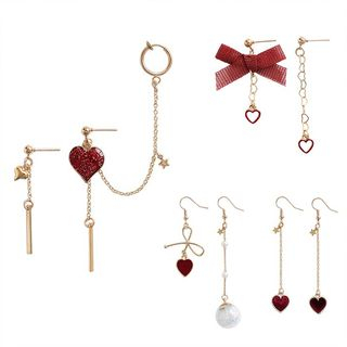 Image of Alloy Heart Dangle Earring (various designs)