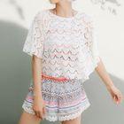 Set: Short-Sleeve Lace Top + Tankini + Shorts 1596