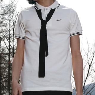 Buy REENO Set: Short-Sleeve Polo Shirt + Knit Tie 1022542715
