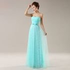 Sleeveless Jacquard Evening Gown 1596