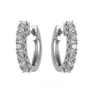 18K White Gold Earrings with Diamonds - United states