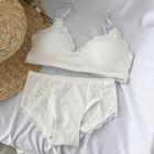 Set: Lace Trim Wireless Bra + Panties 1596
