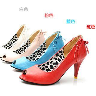 Picture of KAWO Bow-Back Peep-Toe Pumps 1022760921 (Pump Shoes, KAWO Shoes, China Shoes, Womens Shoes, Womens Pump Shoes)