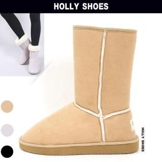 Buy Holly Shoes Faux-Suede Fleece Lined Boots 1021891433