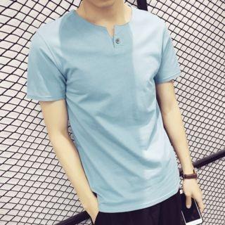 Plain Short-Sleeve T-Shirt 1057682462