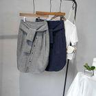 Tie-Waist Pencil Skirt 1596