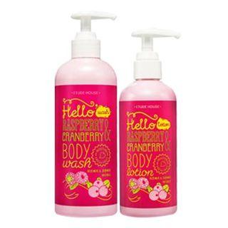 Hello Raspberry & Cranberry Body Special Set: Body Wash 500ml + Body Lotion 270ml 2pcs
