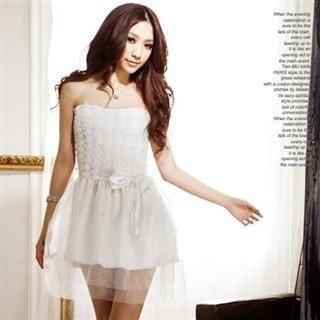 Buy Tian Mu Rosette Mesh Detail Tube Dress 1022522288