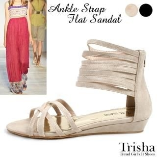 Picture of Trisha Ankle Strap Sandals 1022871579 (Sandals, Trisha Shoes, Korea Shoes, Womens Shoes, Womens Sandals)