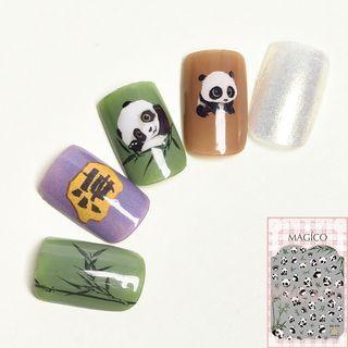 Panda Nail Art Sticker 378 - Panda - One Size