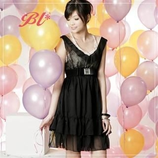 Buy Barbie Baigel V-Neck Chiffon Dress 1022545564