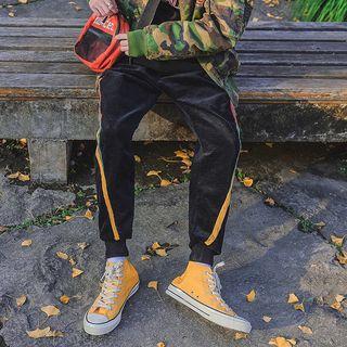 Stripe Corduroy Jogger Pants
