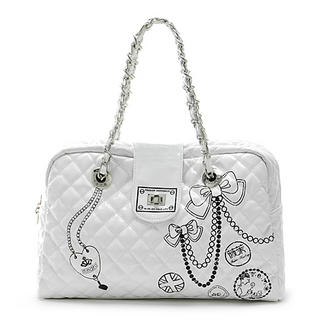 Picture of Vemo Quilted Handbag White - One Size 1022778586 (Vemo, Handbags, Taiwan Bags, Womens Bags, Womens Handbags)