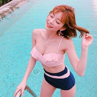 Frill Ribbon High-Rise Bikini Set 1065824847