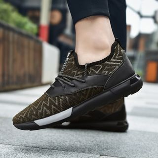 Patterned Mesh Sneakers 1066164096