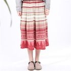 Print Accordion Pleat Skirt 1596