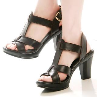 Buy Kvoll Genuine Leather Platform Sandals 1022501875